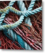 Nets And Knots Number Six Metal Print by Elena Nosyreva