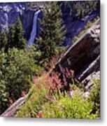 Nevada Falls Yosemite National Park Metal Print by Alan Lenk