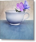 New Life For An Old Coffee Cup Metal Print by Priska Wettstein