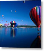 New Mexico Hot Air Balloons Metal Print by Jerry McElroy
