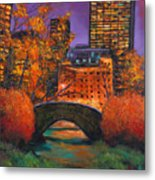 New York City Night Autumn Metal Print by Johnathan Harris
