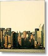 New York City Skyline Panorama Metal Print by Vivienne Gucwa