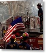 New York Firefighters And Salt Lake Metal Print by Everett