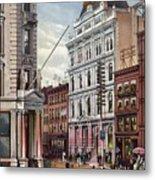 New York Stock Exchange In 1882 Metal Print by Everett
