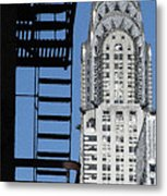 New York Watercolor 3 Metal Print by Andrew Fare