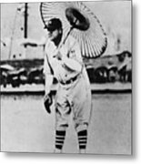 New York Yankees. Babe Ruth, Holding Metal Print by Everett