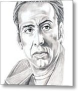 Nicolas Cage Metal Print by Murphy Elliott