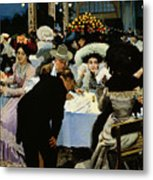 Night Restaurant Metal Print by MG Slepyan
