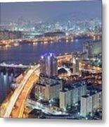 Night View Of Seoul Metal Print by Tokism
