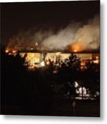 Night View Of The Pentagon Metal Print by Everett