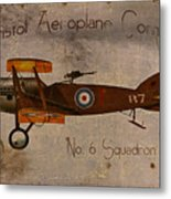 No. 6 Squadron Bristol Aeroplane Company Metal Print by Cinema Photography