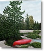 North Country Canoe Metal Print by Kenneth M  Kirsch