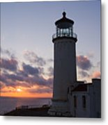 North Head Lighthouse Metal Print by Terry  Wieckert