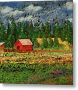 North Idaho Farm Metal Print by David Patterson