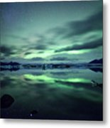 Northern Lights Over Jokulsarlon Metal Print by Matteo Colombo