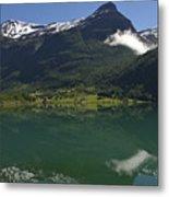 Norway, Briksdal Glacier At Jostedal Metal Print by Keenpress