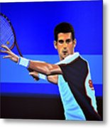 Novak Djokovic Metal Print by Paul Meijering
