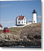 Nubble Lighthouse Metal Print by Thomas  Jarvais