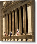 Ny Stock Exchange Metal Print by Gerard Fritz
