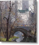 Nyc Central Park Metal Print by Ylli Haruni
