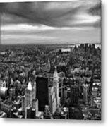 Nyc Manhattan Panorama Metal Print by Nina Papiorek