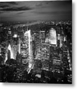 Nyc Times Square Metal Print by Nina Papiorek