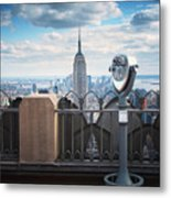 Nyc Viewpoint Metal Print by Nina Papiorek