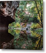 Oak Creek Canyon Reflections Metal Print by Dave Dilli