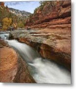 Oak Creek In Slide Rock State Park Metal Print by Tim Fitzharris