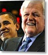 Obama And Kennedy Metal Print by Gabe Art Inc