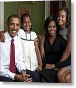 Obama Family Official Portrait By Annie Metal Print by Everett