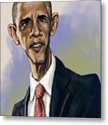 Obama Metal Print by Tyler Auman
