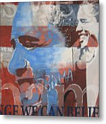 Obama Yes Metal Print by Xavier Carter