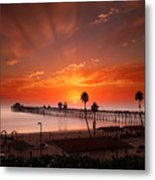 Oceanside Sunset 9 Metal Print by Larry Marshall