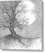 October Moon Metal Print by Adam Zebediah Joseph