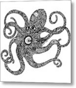 Octopus Metal Print by Carol Lynne
