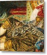 Odalisque Metal Print by Pg Reproductions