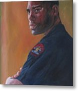 Officer Metal Print by Connie Schaertl