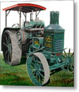 Oil Pull Tractor Metal Print by Ferrel Cordle