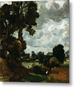 Oil Sketch Of Stoke-by-nayland Metal Print by John Constable