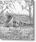 Old Barn 2 Metal Print by Barry Jones