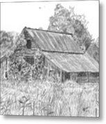 Old Barn 4 Metal Print by Barry Jones