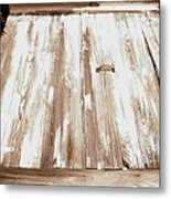 Old Basement Doors Metal Print by Colleen Kammerer
