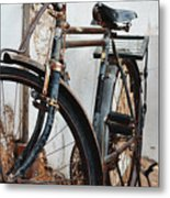 Old Bike II Metal Print by Robert Meanor