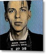 Old Blue Eyes - Frank Sinatra Metal Print by Bill Cannon