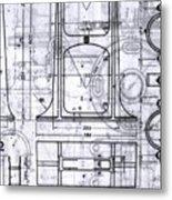 Old Blueprints Metal Print by Yali Shi