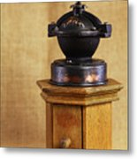 Old Coffee Grinder Metal Print by Falko Follert