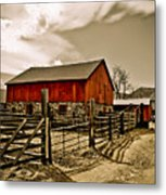 Old Country Farm Metal Print by Marilyn Hunt
