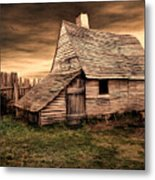 Old English Barn Metal Print by Lourry Legarde