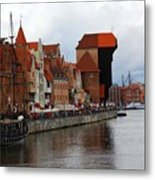 Old Gdansk Port Poland Metal Print by Sophie Vigneault